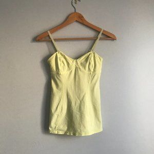 Aritzia Talula Bustier Tank Top in Yellow